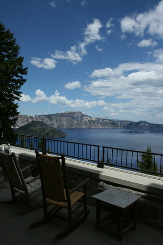 View from the Crater Lake lodge by you.