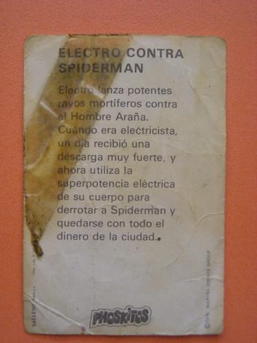 spider-man vs electro ficha por ti.