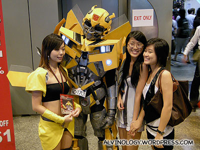 Bumble Bee and his human girlfriend