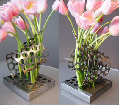 Flower Container: design by Kimberly Manne / craft by Warp Designs