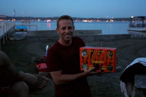 Brad and Fireworks