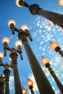 """""""Urban Light"""" at LACMA. Photo by andy castro."""
