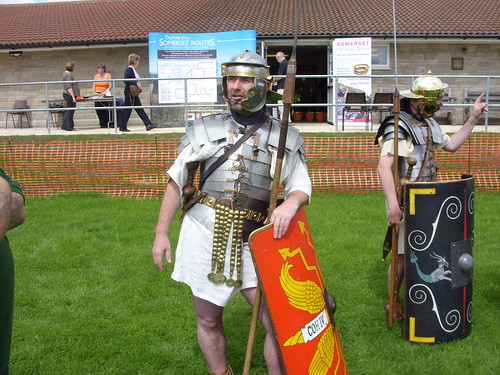A uniformed Roman soldier
