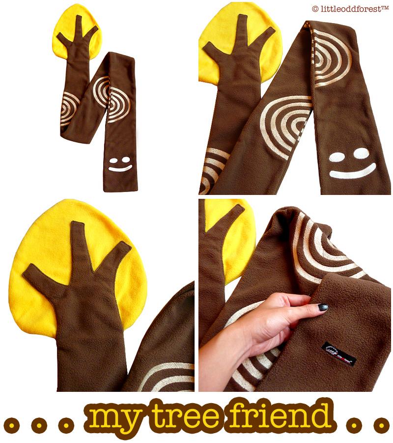 My Tree Friend fleece scarf