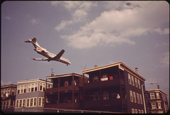 Near Logan Airport - Airplane Coming in for La...