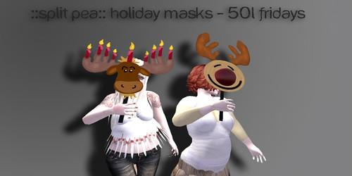 Split Pea holiday Masks
