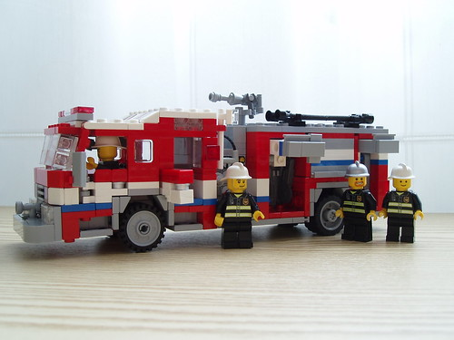 LEGO fire engine rescue pumper