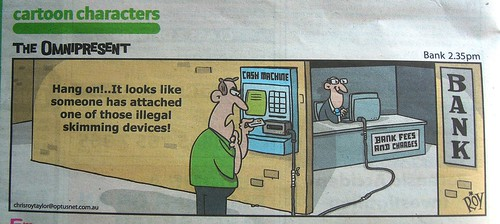 bank charges ATM cash machine cartoon funny DS...
