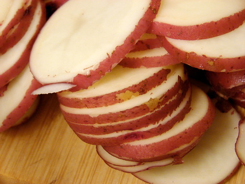 potatoes, sliced
