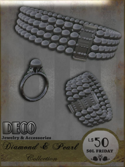 Deco - Week 09 - Diamond & Pearl Collection Jewelry & Accessories