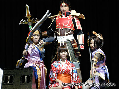Another group, as characters in the game, Dynasty Warrior