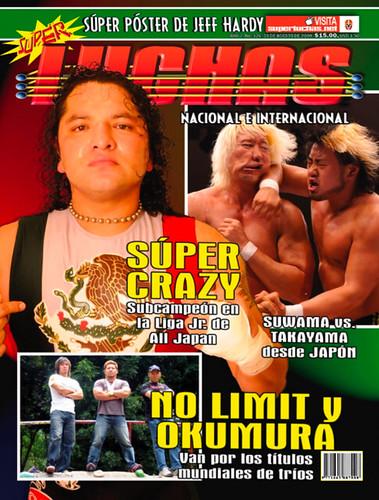 Súper Luchas 326 - Portada - Súper Crazy, No Limit y el impresionante golpe de antebrazo de Suwama a Takayama