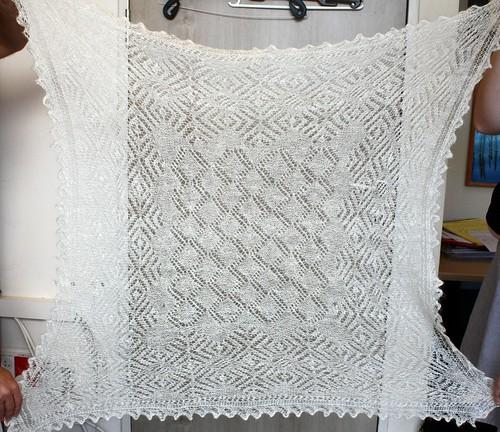 Hand-knit Gossamer Shawl