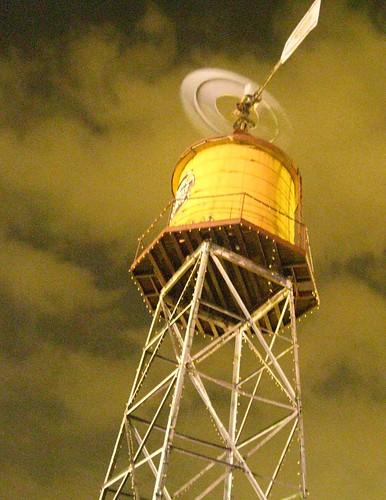 Grapevine Windmill by Night