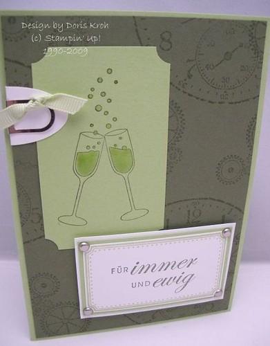 Hochzeitskarte Für immer und Ewig