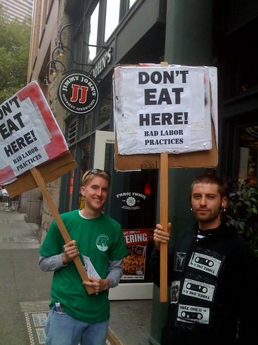 Jimmy John's Protest
