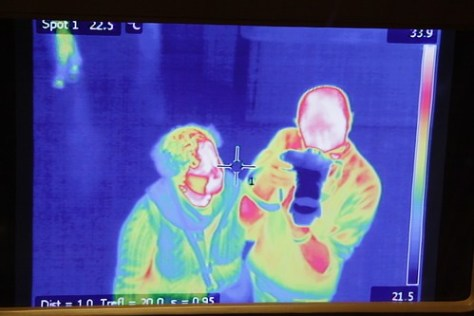 Infrared camera of me and B, Natural History Museum, Vienna
