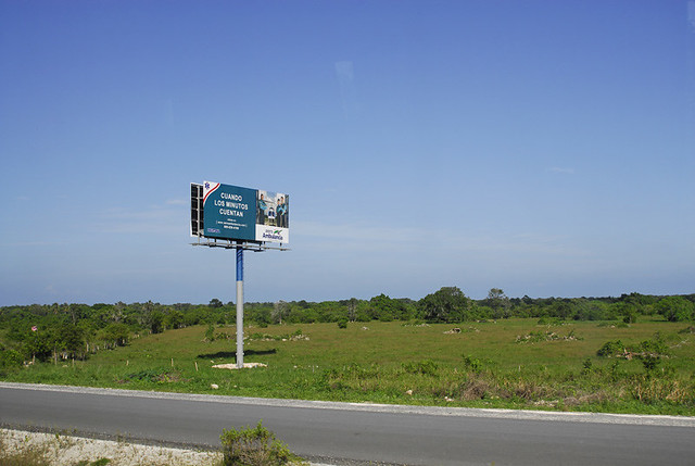 Advertising along the route between airport and resort complexes - Punta Cana - 2009