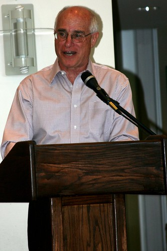 Dir. Harris Sherman talks to CFB members at the CFB Mid-Summer Meeting in July