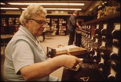 Librarian at the Card Files at Senior High Sch...