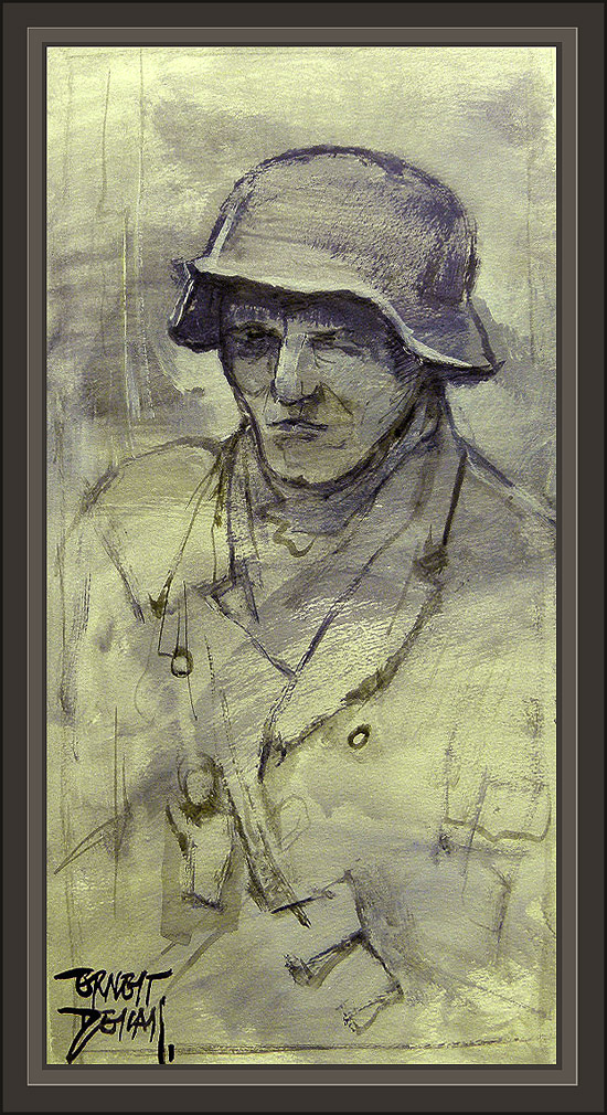 ww2-german soldier-soldado aleman-paintings-pinturas-ernest descals-