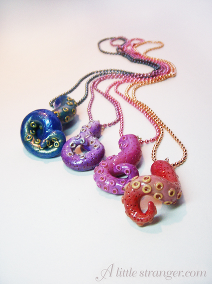 Single Tentacle necklaces
