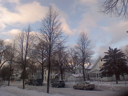 wintry neighborhood