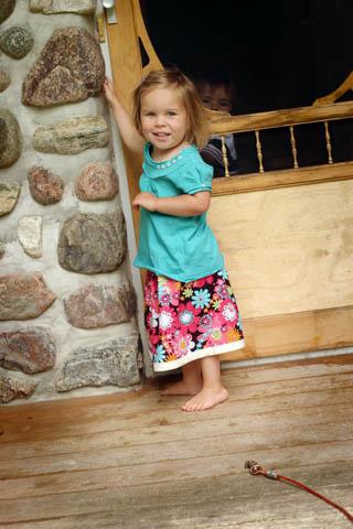 Elizabeth's new skirt
