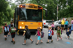 first day school bus ritual