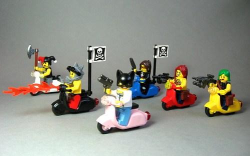 LEGO biker gang
