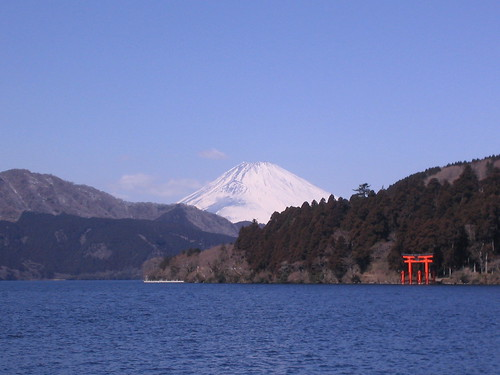 Lake Ashi and Mt Fuji