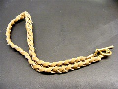 Braided suede bracelet extender with toggle clasp