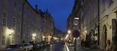 Nové plynové osvětlení v Nerudově ulici v Praze