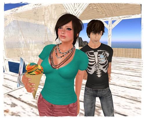 Sehra & Bone stop for ice cream