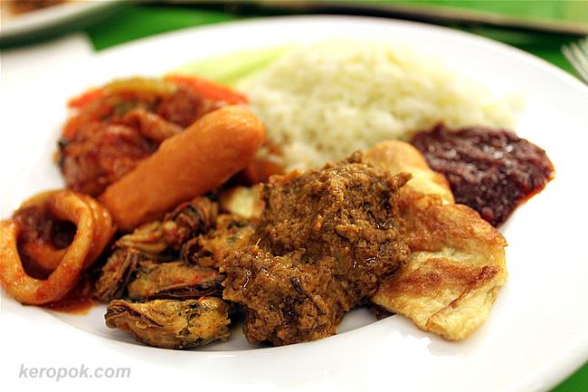 My plate of Nasi Lemak