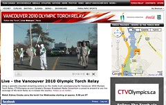 Live Webcam @ Vancouver 2010 Olympic Torch Relay - Pix 2 (John Ells)