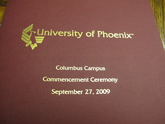 University of Phoenix Commencement Booklet