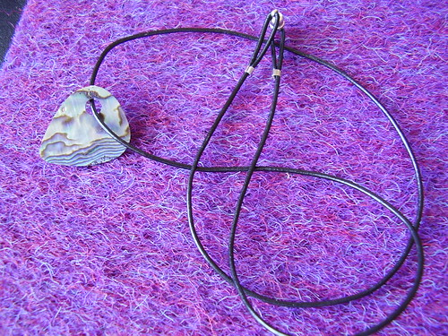 Paua pick pendant
