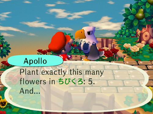 Apollo prophetically telling the charm of Chibikuro!