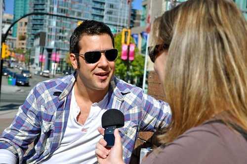 Rebecca interviews George Stroumboulopoulos