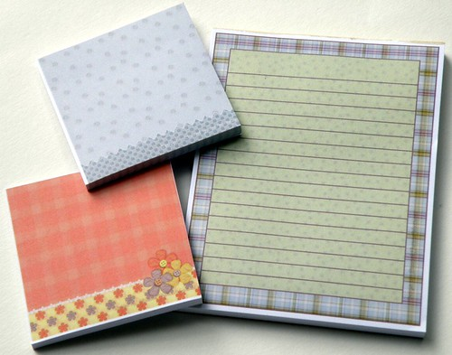 Stickies and note pad