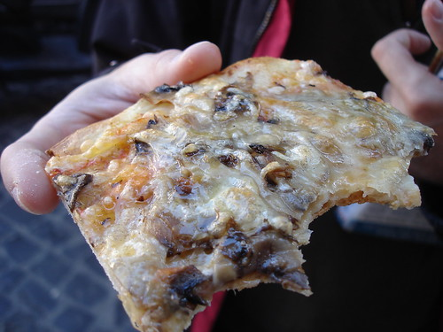 Mushroom and Cheese Pizza