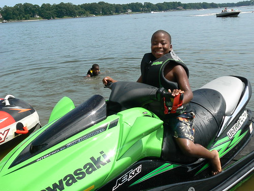 Jet Skiing - Jacal on Parked Jet Ski