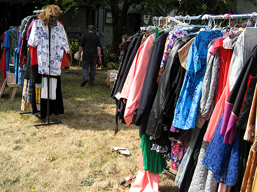 Costume shop yard sale