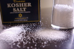 Kosher salt and ground sea salt
