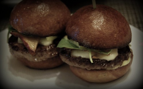 Mini Kobe Burgers at Drago Centro by you.
