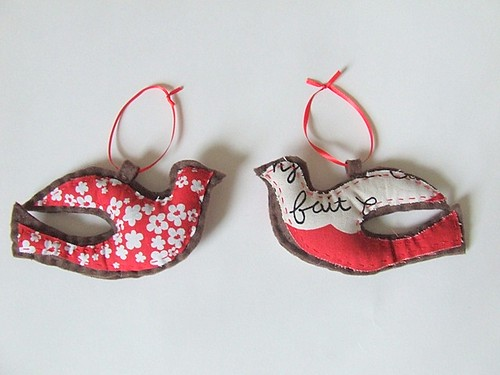 felt dove ornaments