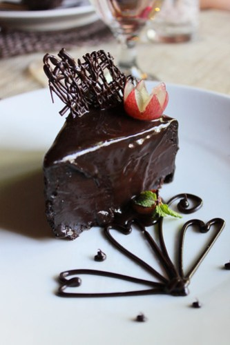 Cena Una Chocolate Cake at Balay Cena Una