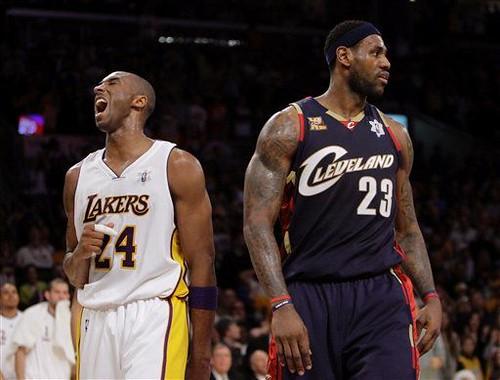 Kobe y LeBron en el día de Navidad