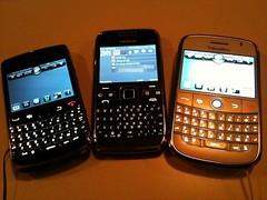 BlackBerry Bold 9000 & 9700, Nokia E72